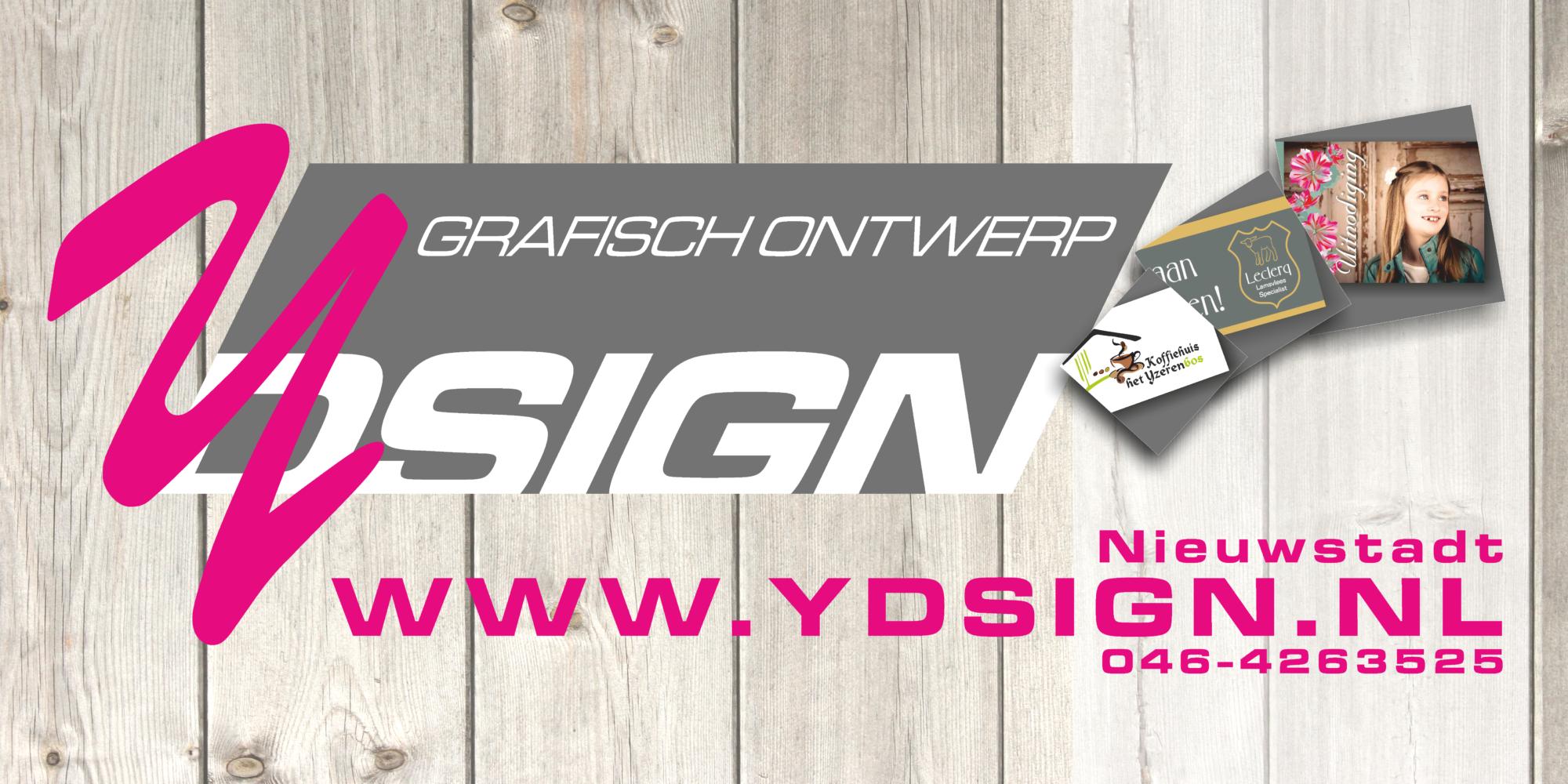 www.ydsign.nl Y-dsign grafisch ontwerp Nieuwstadt